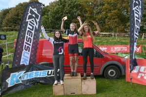 YCCA Round 5. Huddersfield Oct 2016. Podium presentations. Under 14 girls.