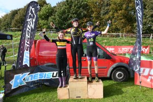 YCCA Round 5. Huddersfield Oct 2016. Podium presentations. Under 16 girls.